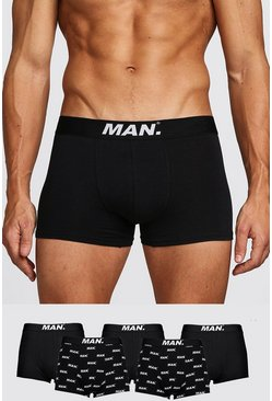 Black 5 Pack MAN Dot Mixed Trunk