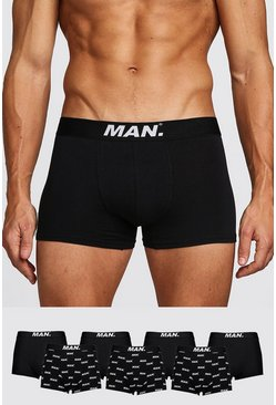 Black 7 Pack MAN Dot Mixed Trunk