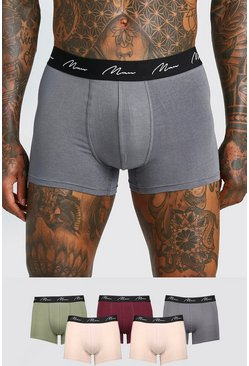 Mens Multi 5 Pack MAN Script Trunk