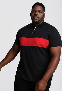 Polo en jersey colorblock bog and tall, Noir
