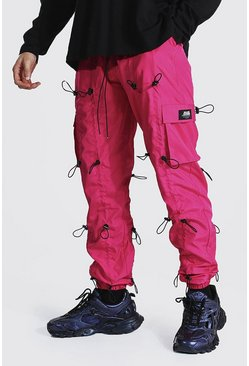 Bright pink Loose Fit All Over Toggle Cargo Trouser