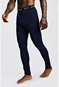 Navy MAN Dash Meggings
