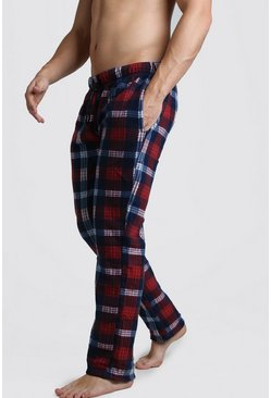 Red Check Polar Fleece Lounge Pant