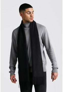 Soft Brushed Scarf, Black