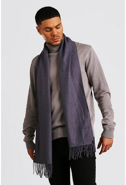 Dark grey Soft Brushed Scarf