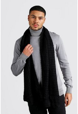 Knitted Scarf, Black