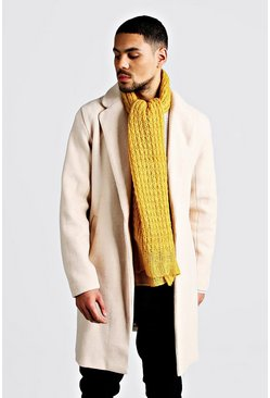 Knitted Scarf, Mustard