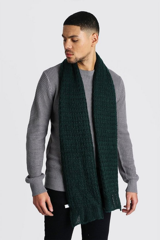 Knitted Scarf, Dark green