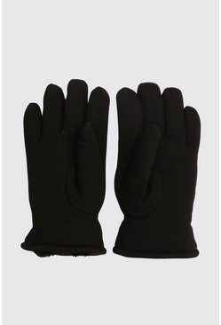 Black Faux Fur Lined Classic Gloves