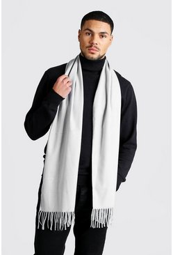 Soft Brushed Scarf, Light grey