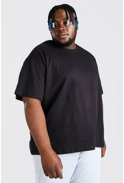 Big & Tall Basic Loose-Fit T-Shirt, Schwarz