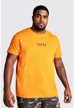 Mens Orange Big And Tall MAN Dash T-Shirt
