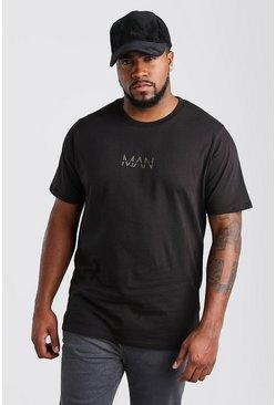 Black Big And Tall MAN Dash T-Shirt