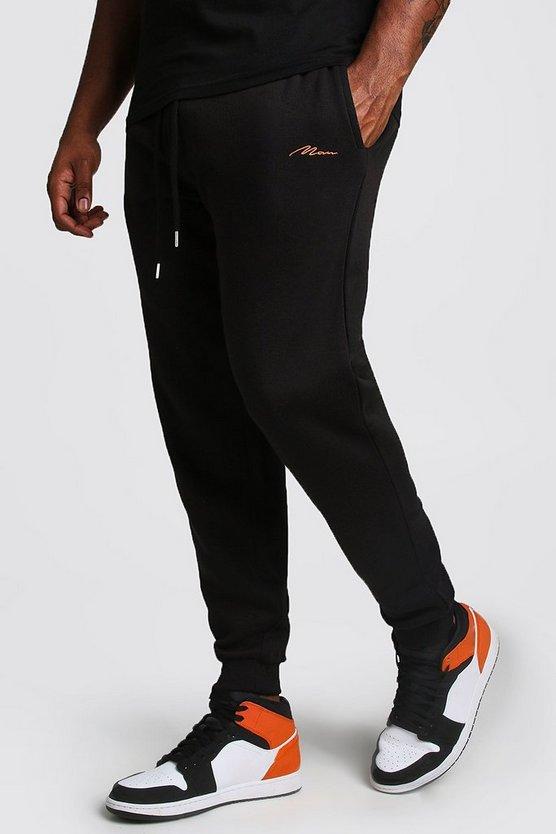 big and tall man script skinny fit jogger boohooman. Black Bedroom Furniture Sets. Home Design Ideas