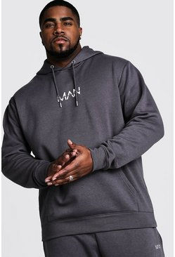 Big And Tall MAN Dash Hoodie, Charcoal