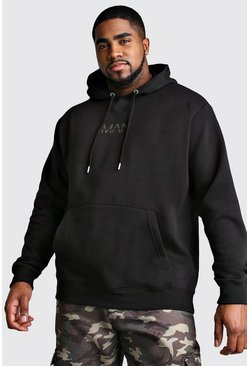 Big And Tall MAN Dash Hoodie, Black