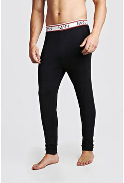 Mens Black MAN Dash Sport Megging