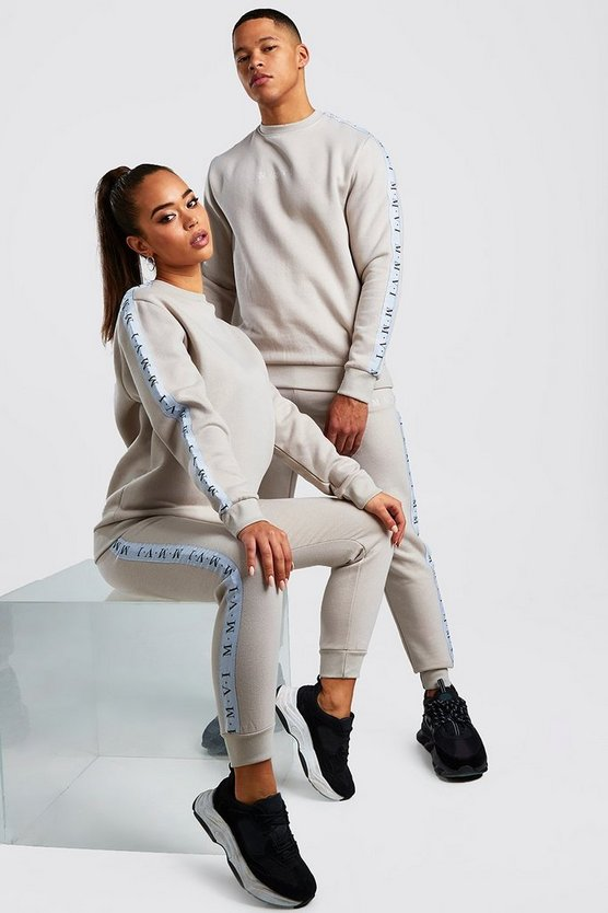 His Sweater Tracksuit With Tape Detail by Boohoo Man