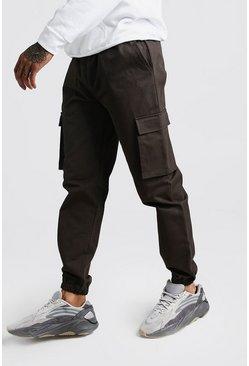 Khaki Utility Pocket Cargo Jogger Pants