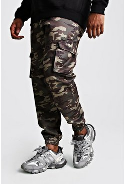 Big And Tall Utility Camo Cargo Jogger Pants