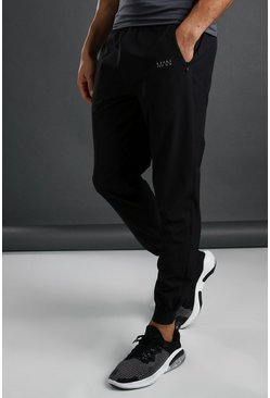 Jogging tissé coupe slim MAN Active, Noir