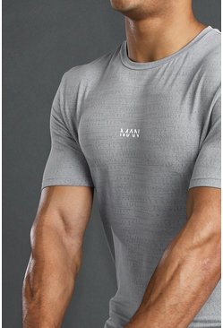 Grey MAN Active Muscle Fit Fabric Interest T-Shirt