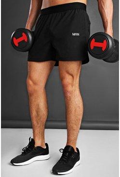 Black MAN Active Woven Running Shorts