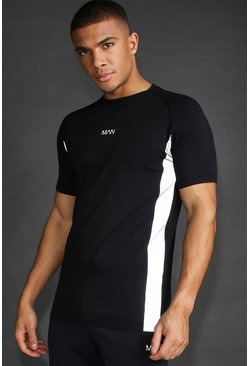Black MAN Active Muscle Fit Reflective Panel T-Shirt