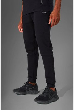Black MAN Active Tapered Fit Jogger