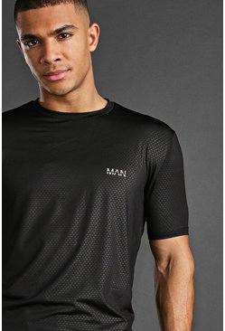 Black Man Active Fabric Interest T-Shirt