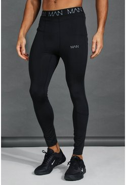 Black MAN Active Compression Tights