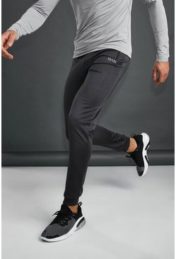 Charcoal MAN Active Skinny Poly Joggers