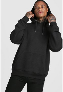 Black Oversized Over The Head Hoodie