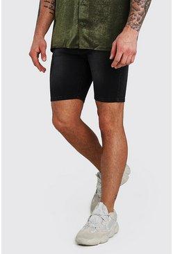 Charcoal Stretch Skinny Jean Short