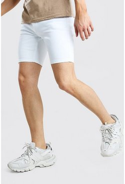 White Stretch Skinny Jean Short
