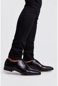Black Faux Leather Pindot Formals