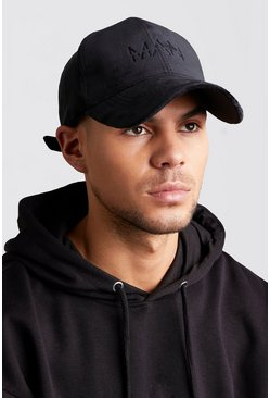 Black MAN Embroidered Velvet Cap