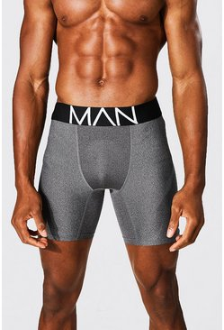 Charcoal MAN Dash Long Length Sports Boxer