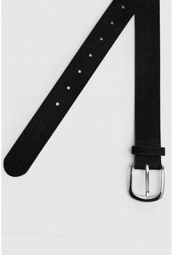 Faux Suede Black Classic Belt