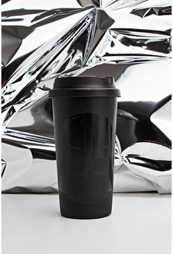 Mens Black Star Wars Darth Vadour Travel Mug