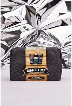 Mens Multi MAN Sruff Washbag Set