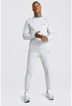 Grey MAN Signature Muscle Fit Sweater Tracksuit