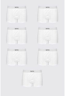 White Big And Tall 7 Pack MAN Boxers