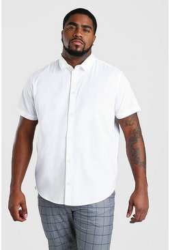 White Big And Tall Short Sleeve Oxford Shirt