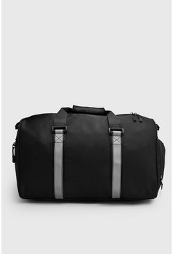 Reflective Tape Holdall, Black