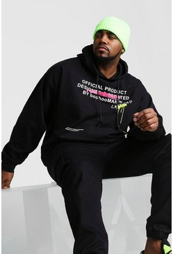 Mens Black Big And Tall Certified Graffiti Hoodie