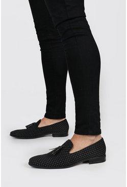 Black Pindot Loafer