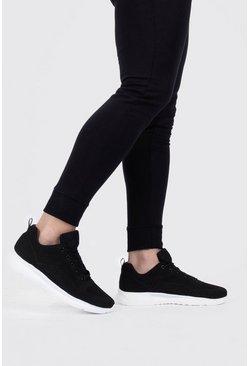 Black Flyknit Sport Sneakers