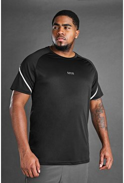 Black Plus Size MAN Active T-Shirt