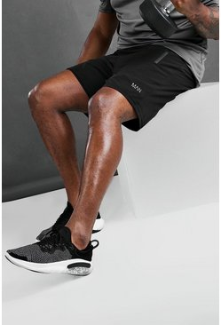 Black Big And Tall MAN Active Shorts